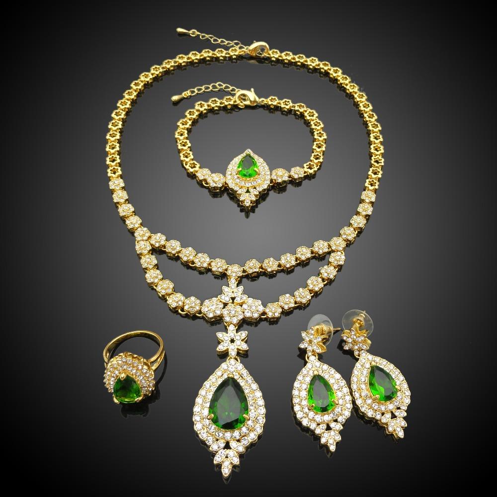 Dubai Fashion Jewellery Designs 18k Gold Wedding Jewelry Set ...