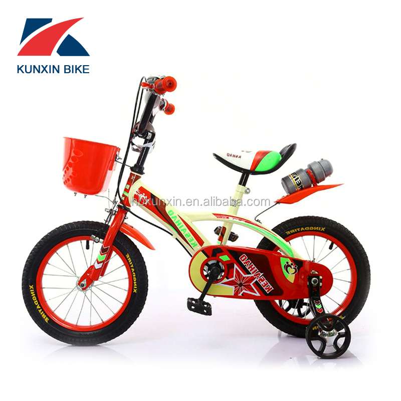 Shining training 12 inch colorized wheel children bicycle for 10 year old