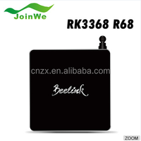 New Android tv box octa core RK3688 2G/16G Dual Band Wi-Fi Kodi H.265 UHD 4K2K tv box with Black/Gold color