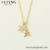 necklace 00800 xuping18 k gold plated star and Tower pendant necklace