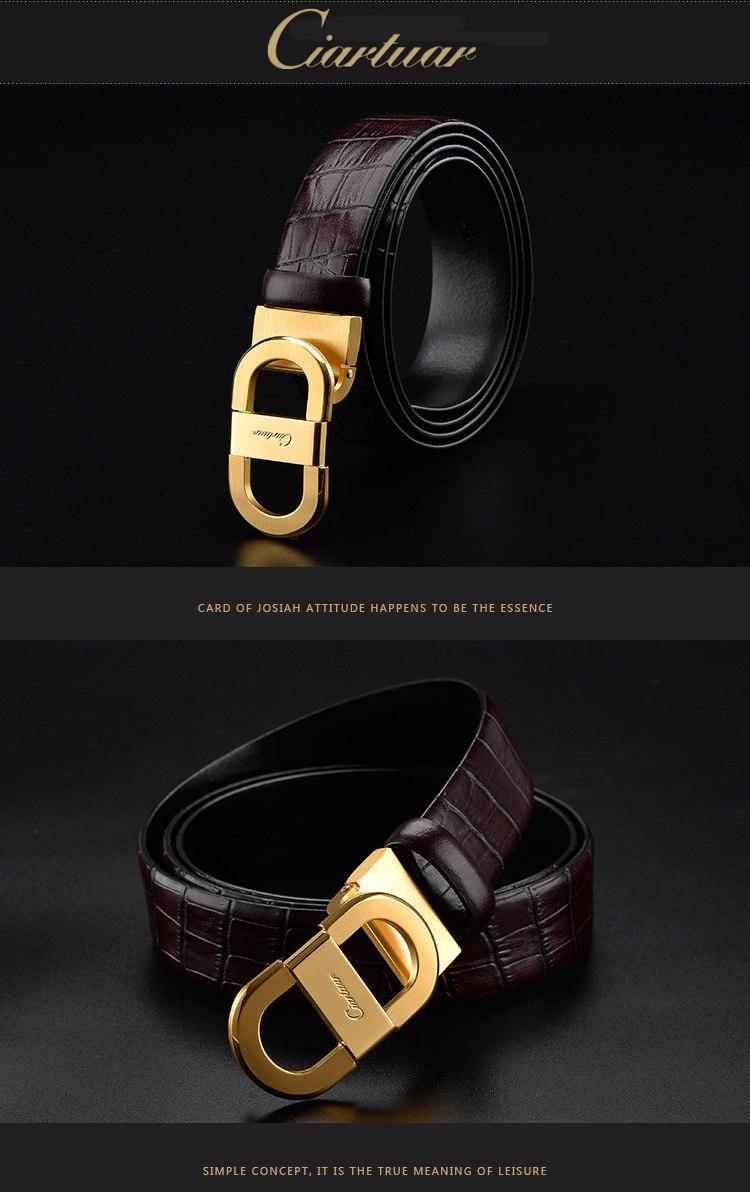 52c63283b Ciartuar men s genuine leather belt designer belts men high quality luxury  belt for man smooth buckle solid brass buckle for men