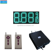 24 Inch RF Control Green 8.88 9/10 LED Gas Price Digital Sign Board