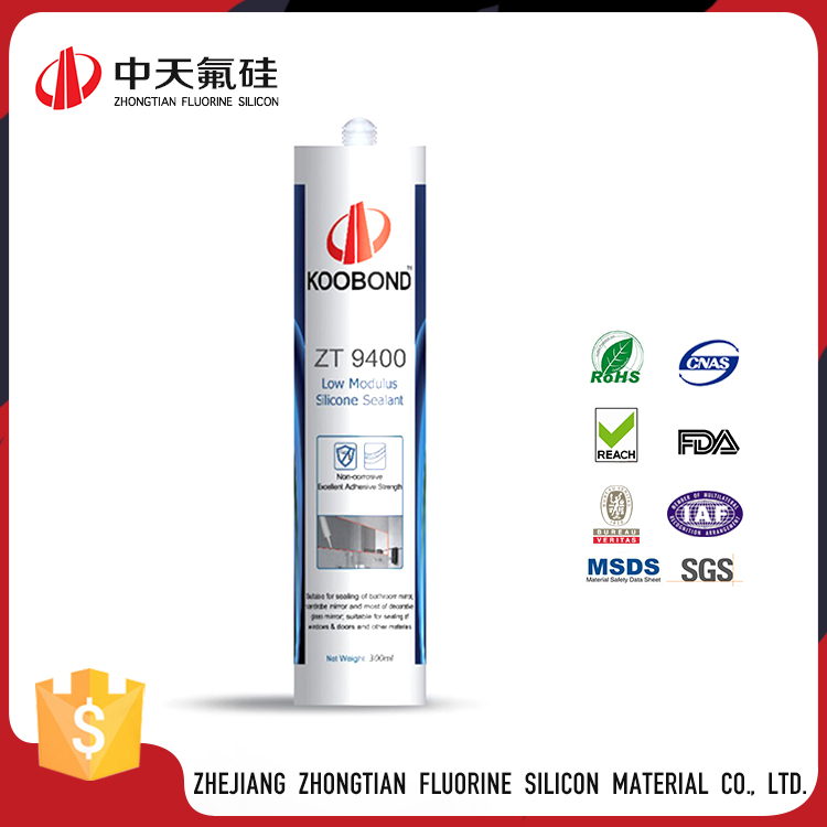 White Color High Bonding Low Modulus Mildew Resistant Butyl Rubber Caulk Silicone Sealant