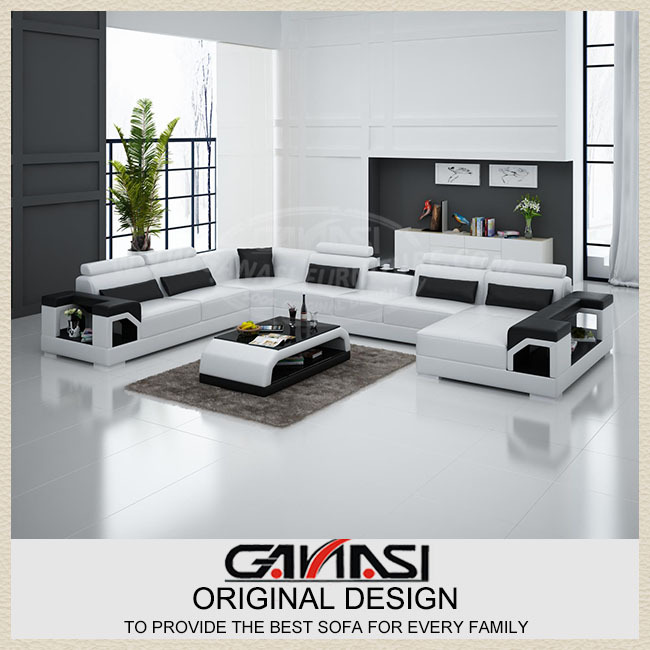 Living Room Furniture For Sale Cheap: Modern Sofa Set Living Room Furniture Black,leather