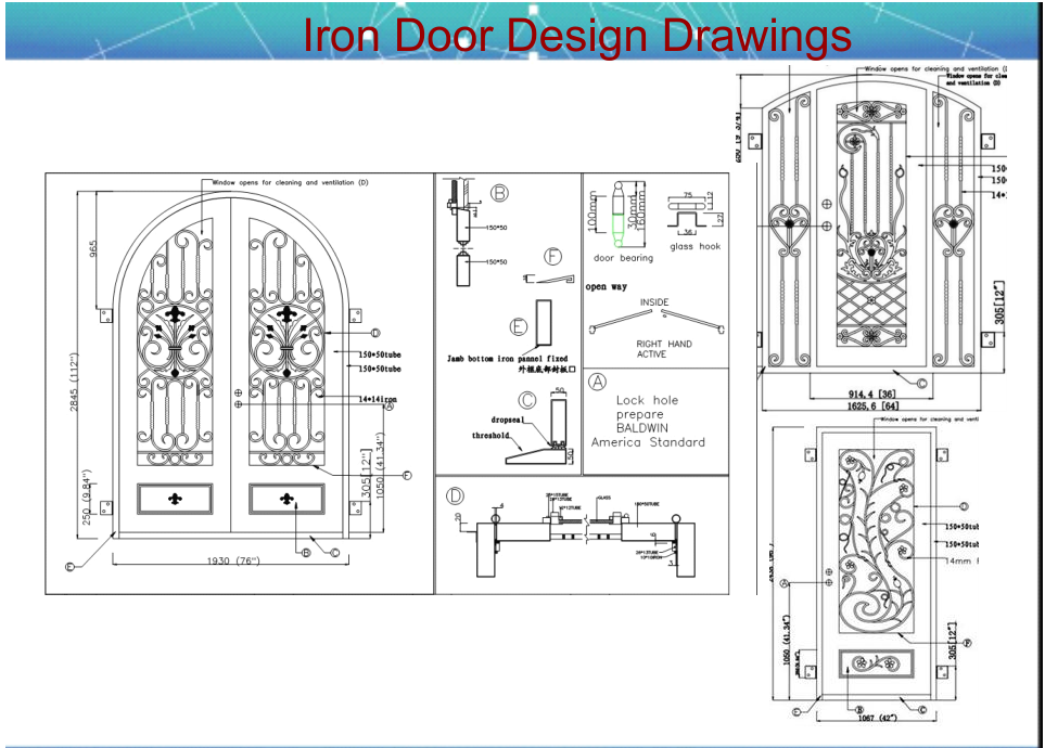 Open Double Door Drawing arch top entry metal double door - buy entry irorn door design