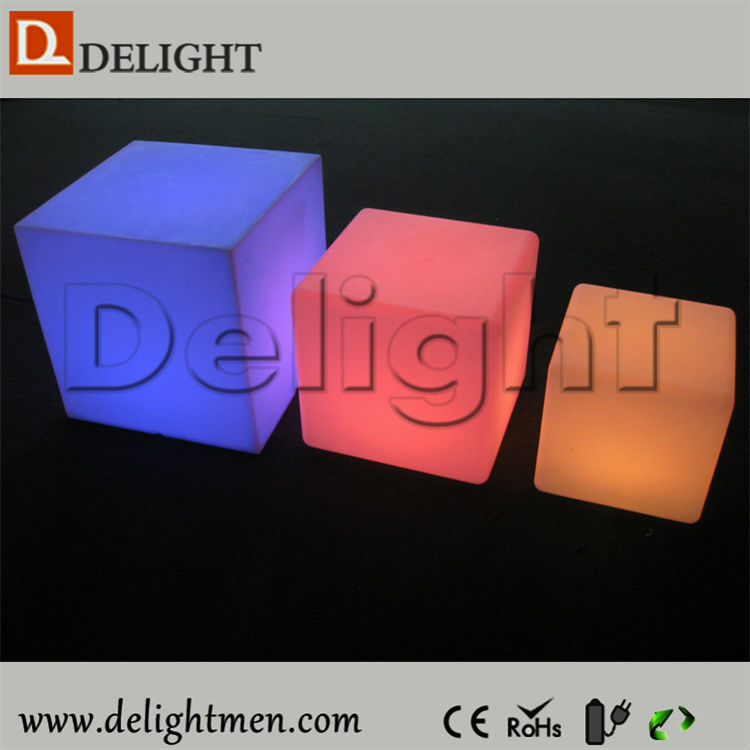 Led Cube Seat Lighting/ Colorful Light Up Cube Chair/ Led Foam Cube Seat