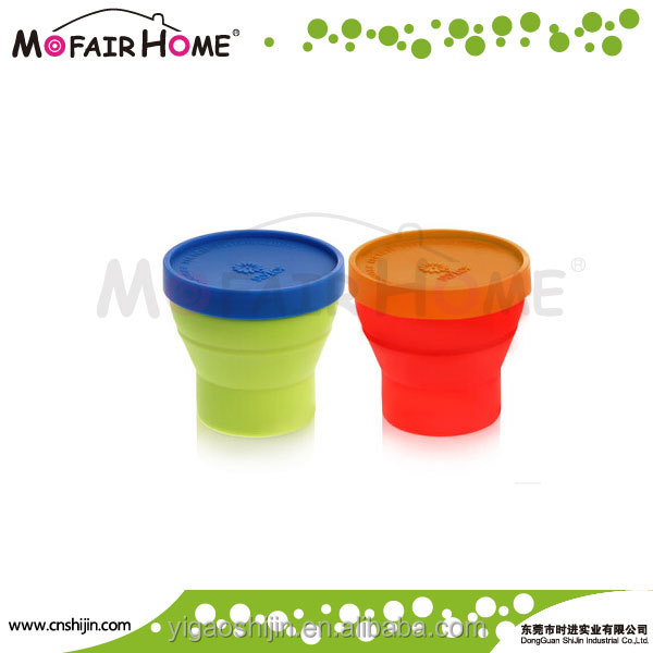 silicone foldable drinking water cup