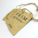 Good QUALITY Customized NICE kraft paper hang tags with eyelet for jean garment