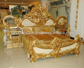 Classic Carved Bedroom Furniture European Style Carved