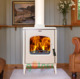 Modern design enamel wood fireplace cast iron stove,decorative ceramic wood stoves indoor heating