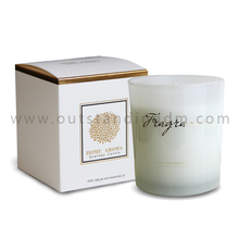 2018 Hot Selling Wholesale White Aromatic Candles In Glass Jar