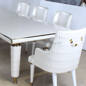 modern armrest chair metal leg hot sale leather dining chair hotel chair