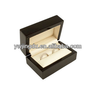 black wooden double wedding band diamond ring box ring size wholesale