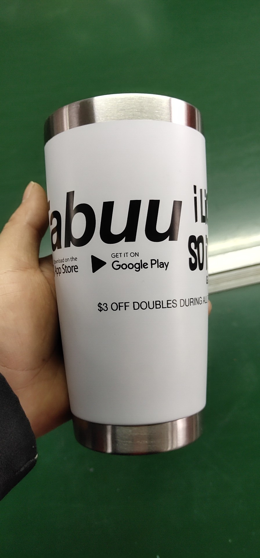 500 ml di Birra Barile bicchiere In Acciaio Inox Tazza di Caffè Doppia Parete tazza di Tè Tazza di Acqua Vodka Spazi Sublimazione Logo Personalizzato In Polvere cappotto