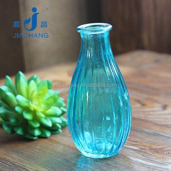 Mini Blue Glass Material Murano Flower Vase For Table Decoration