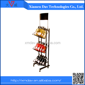 Direct from china grocery store wine display racks , drink display racks