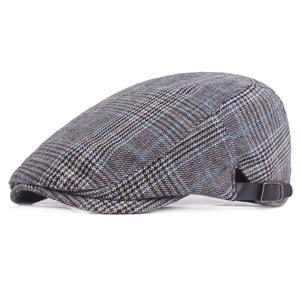 6146d8a005c3f Fashion plaid checked fabric winter hat plaid ivy cap newsboy tweed cap  wholesale