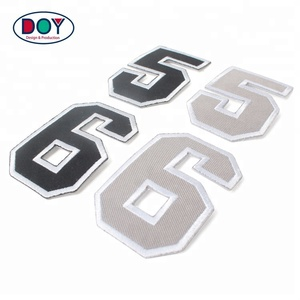 Custom Fabric Sports Accessories Football Club Embroidered Numbers Patches Labels for Soccer Jerseys