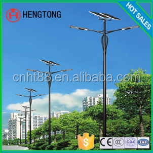 cheap prices of 10m solar street lamp direct factory with CE and ISO and two arms