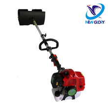 gas power broom brush sweeper