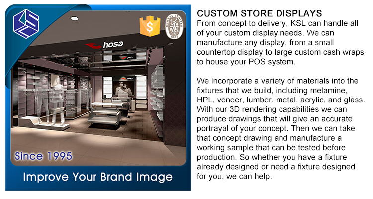 Ksl wooden slatwall clothing rack display portable t shirt for Portable t shirt display