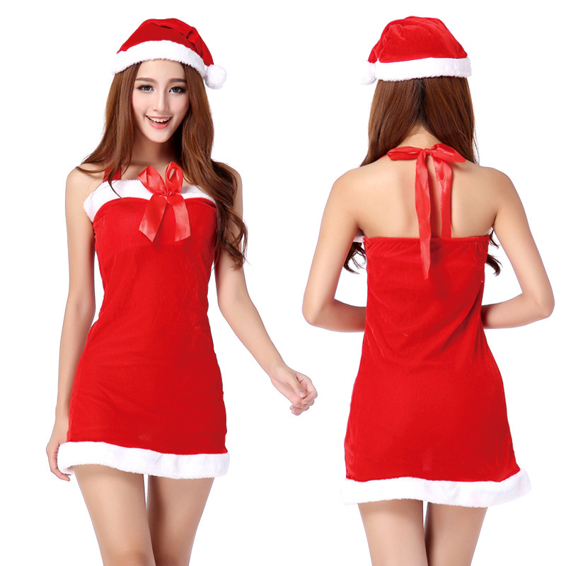 5f477566ff8 Get Quotations · 2014 Hot Cosplay Santa suit Costume for Women Halloween  Christmas Party Costumes for Women Costume Two
