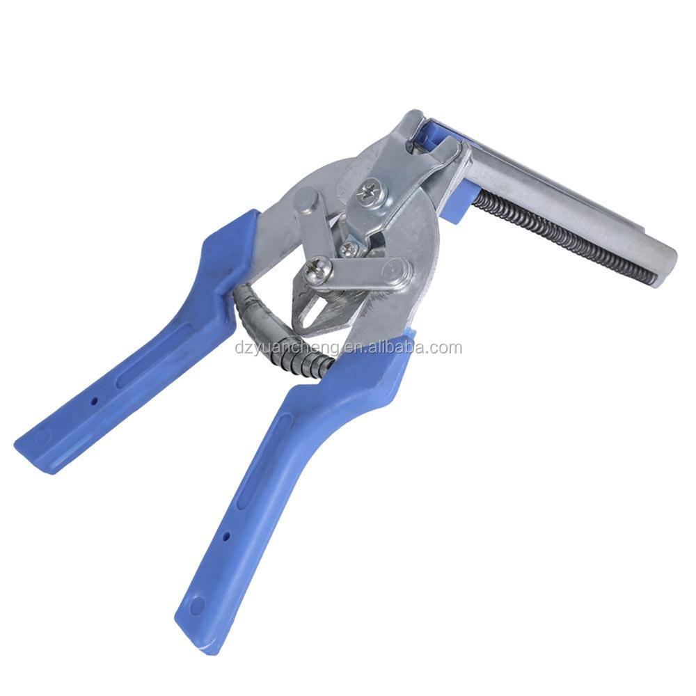 Hog Ring Pliers Tools 600Pcs M Clips Staples Bird Chicken Mesh Cage plier clipper Wire Fencing