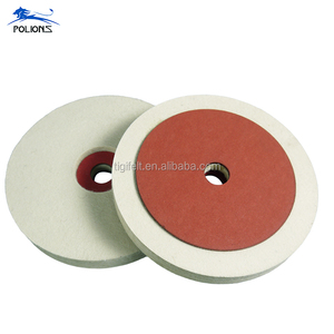 Natural Long Wool Fiber Felt Wheel Polishing Disc with Red Paper