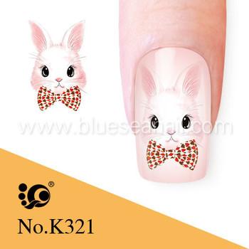 Animal Nail Art Rabbit Sticker Buy Rabbit Stickeranimal Nail