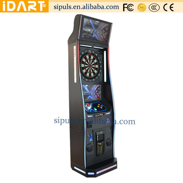 2017 Hot Sale Indoor Sports Electronic Dart Board Wood Cabinet Dart Machine