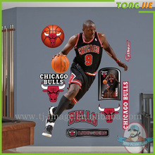Custom removeable basketball star sticker decoration his room