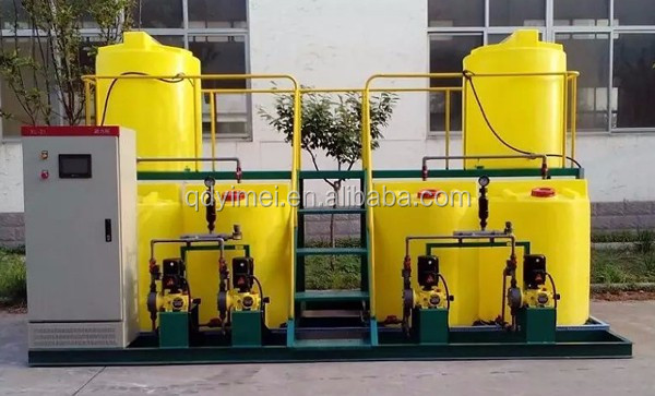 Chemical Feeding System Unit Tank Of Flocculant For Effluent Sewage Waste Water Treatment Plant