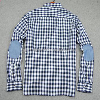 Geruit Overhemd Heren.Heren Lange Mouw Casual Geruit Overhemd Elleboogstukken Buy Oxford