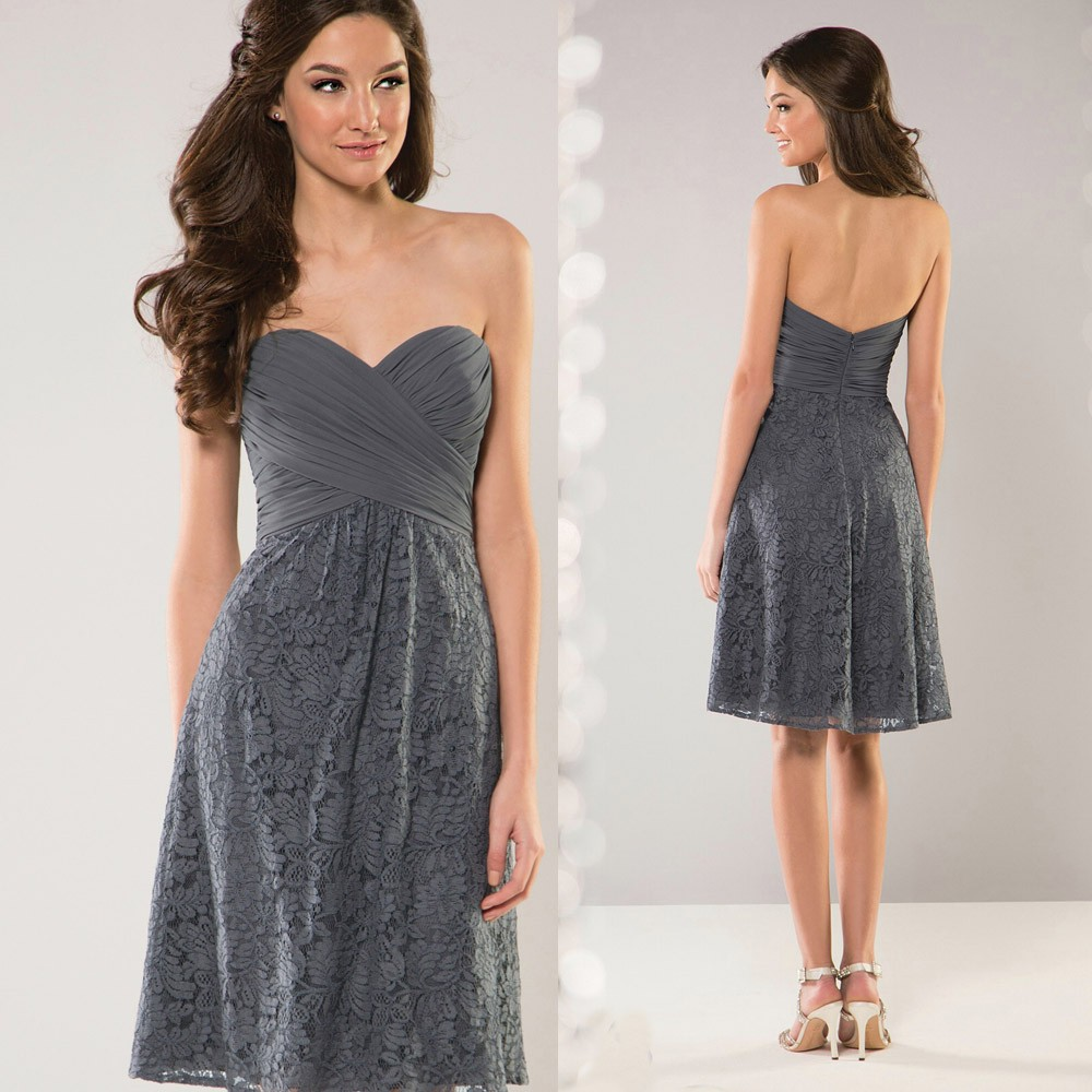 7ef35747df63 Detail Feedback Questions about Free Shipping Grey Lace Bridesmaid ...