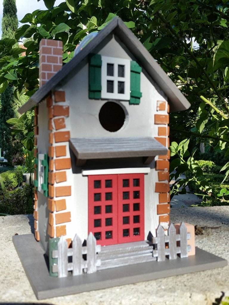 Guest Cottage Birdhouse is a Old Town Cottage Wood Bird House with amazing charming details!