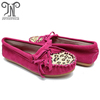 China ladies fancy footwear casual leather slipper red