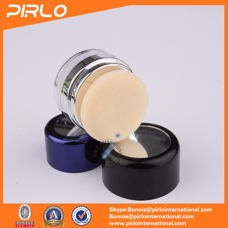 10g 20g ABS empty two-way blusher palette/empty powder puff containers/eyeshadow palette packaging plastic powder jar