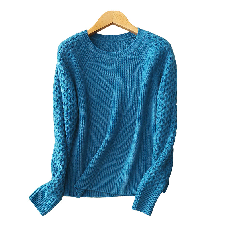 Women clothing 5gg 100% cashmere sweater O neck thick heavy winter warm pullover clothing