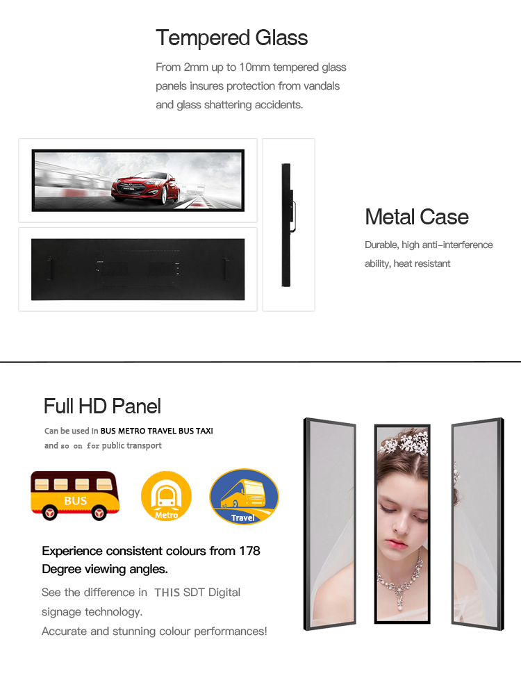 Touch screen lcd digital advertising equipment double sided advertising screen