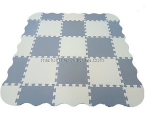 Baby Play Mat with Fence Interlocking Foam Floor Tiles with 9/16 Patterns Crawling Mat for Playroom & Nursery