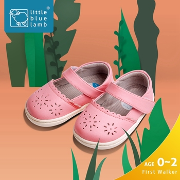 littlebluelamb pink scalloped buckle flats summer baby sandals new born baby shoes