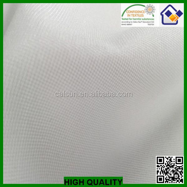 China high quality for ladies wear 100%polyester warp inserted woven interlining,woven knitted interfacing