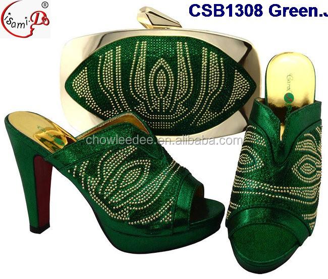 Top color set design fashion and quality bag wine shoes CSB1308 nigeria qaraFSwX
