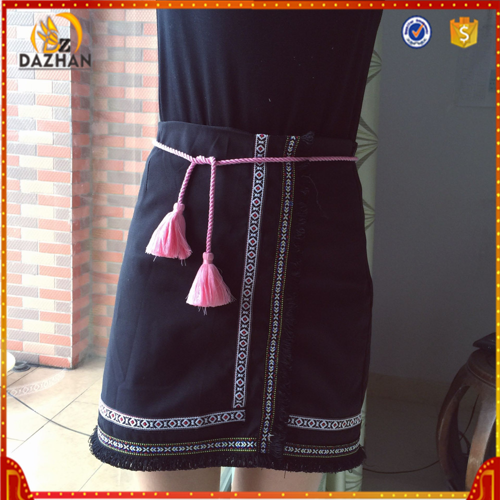 Customized Decorative Cotton Long Tassels For Clothing