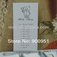Baby shower menu cards laser cut menu cards
