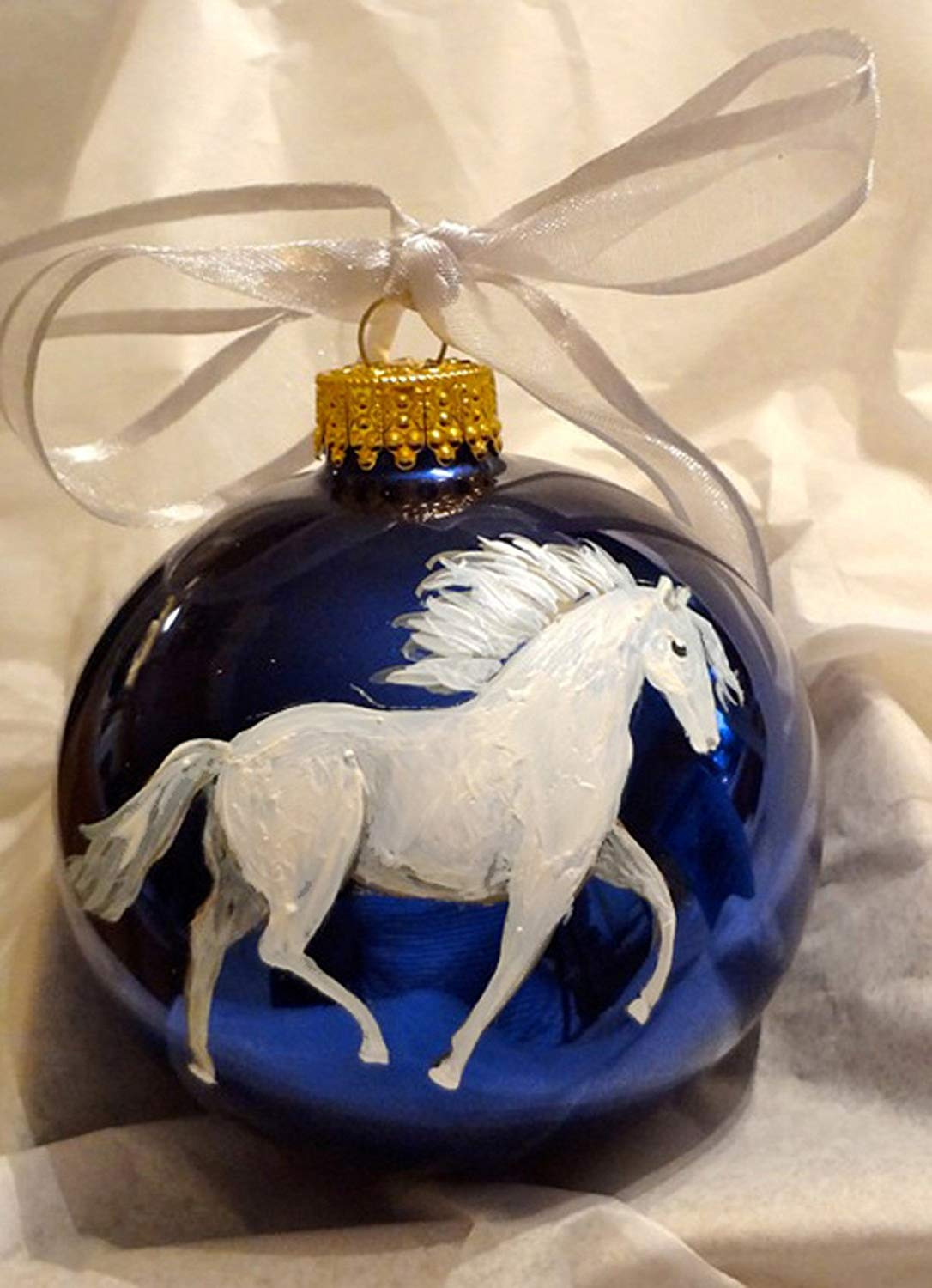 8025 Anglo Norman Horse Ornament Personalized with Your Horse/'s Name