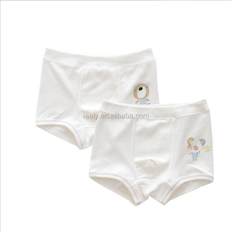 Wholesale white cartoon printed cheap thick thermal underwear,grils cotton boxer brief