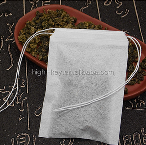 E1011 8*10cm Best Price Food Grade Individual Empty Double Draw String Tea Bag Filter Paper