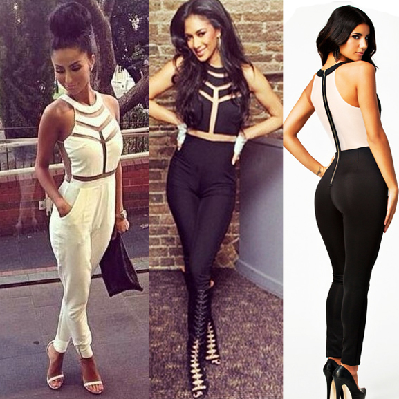 2014-Overalls-for-women-playsuit-Fashion-Net-yarn-splicing ...