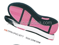 New shelves good quality simple leiture shoes pink tpr ladies outsole
